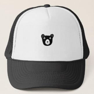 Boné Ilustração preto e branco bonito do urso