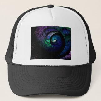 Boné Imagem espiral colorido do fractal na obscuridade