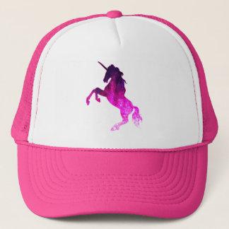Boné Imagem sparkly do unicórnio bonito cor-de-rosa da