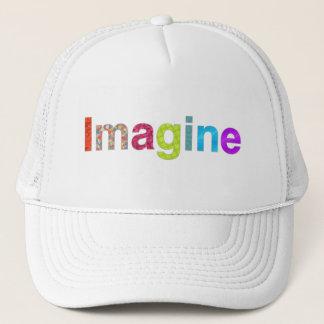 Boné Imagine o chapéu colorido da inspiração do