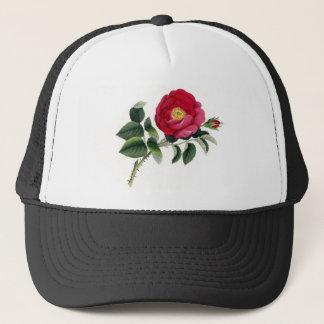 Boné Impressão botânico - o francês aumentou (Rosa