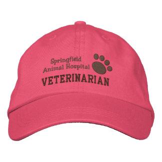 Boné Impressão veterinário da pata da clínica