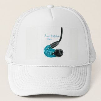 Boné in ear top headphone blue new