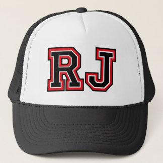 """Boné Initals do monograma """"RJ"""""""