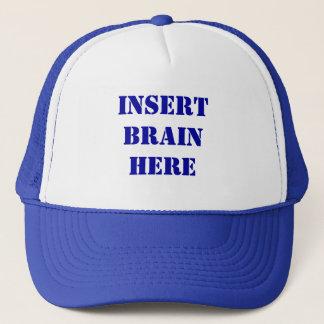 Boné Introduza o chapéu do cérebro aqui