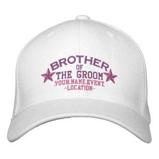 Boné Irmão personalizado das estrelas do noivo no rosa