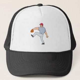 Boné Jarro do jogador de beisebol pronto para jogar a