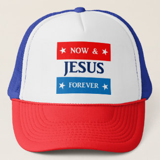 Boné Jesus agora e para sempre chapéu do camionista