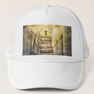 Boné Jesus na ressurreição vazia da páscoa do túmulo