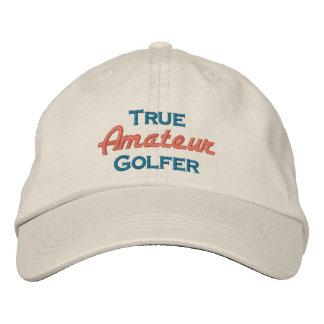 Boné Jogador de golfe amador verdadeiro