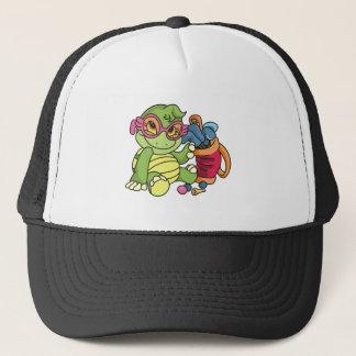 Boné Jogador de golfe da tartaruga da menina
