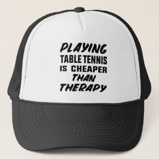 Boné Jogar o ténis de mesa é mais barato do que a