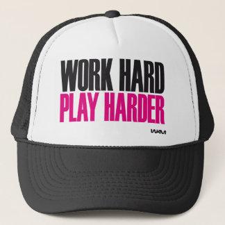 Boné jogo duro do trabalho mais duro