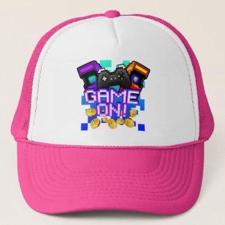 Boné Jogo sobre! chapéu cor-de-rosa do camionista
