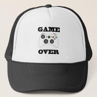 Boné Jogo sobre o chapéu do camionista
