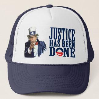 Boné Justiça de Obama foi morto feito de Bin Laden
