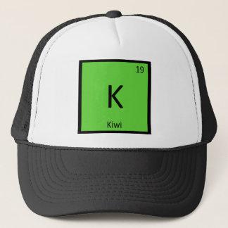 Boné K - Símbolo da mesa periódica da química da fruta