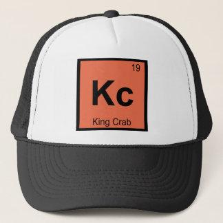 Boné Kc - Símbolo da mesa periódica da química do rei