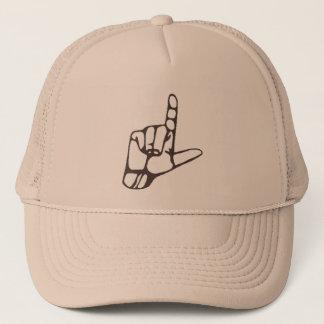 Boné L chapéu da mão do vencido