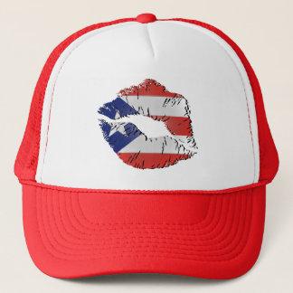 Boné Lábios da bandeira de Puerto Rico