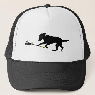 Boné Laboratório preto que joga o chapéu do camionista