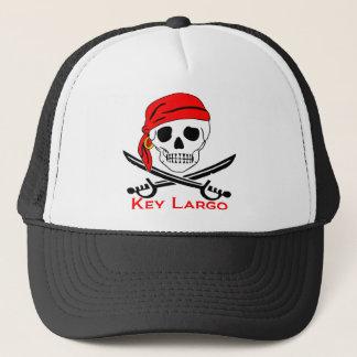 Boné Largo Key West da chave do crânio do pirata