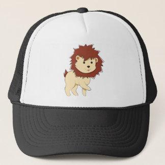 Boné Leão feliz do bebê dos desenhos animados