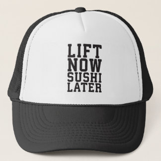 Boné Levante agora, Gym engraçado da novidade do sushi