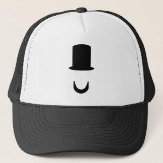 Boné Lincoln - chapéu alto e barba