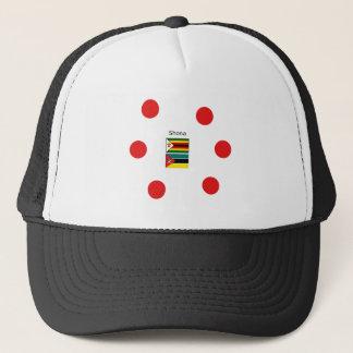 Boné Língua de Shona e bandeiras de Zimbabwe e de
