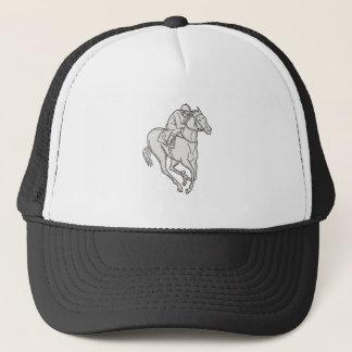 Boné Linha do cavalo do puro-sangue da equitação do