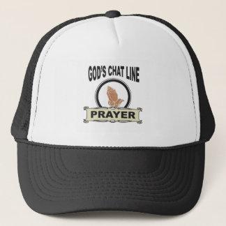 Boné linha oração do bate-papo dos deuses