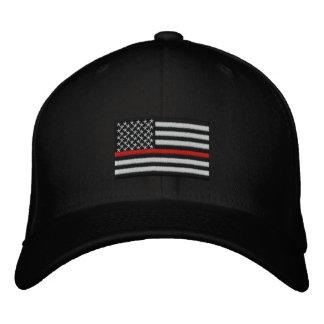 Boné Linha vermelha fina bandeira americana do