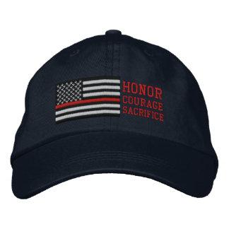 Boné Linha vermelha fina sacrifício da coragem da honra