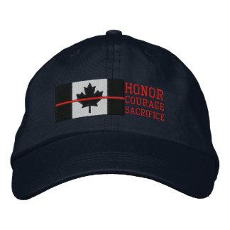 Boné Linha vermelha sacrifício canadense da coragem da