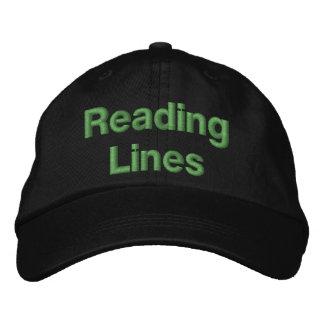 Boné Linhas de estrada de ferro da leitura