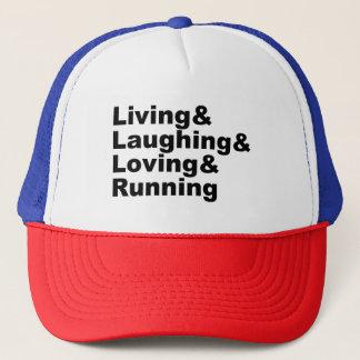 Boné Living&Laughing&Loving&RUNNING (preto)
