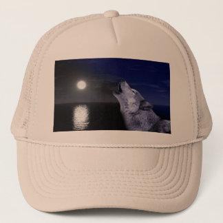 Boné Lobo de mar - lobo da lua - Lua cheia - lobo