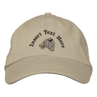 Boné Lobo feito sob encomenda chapéu bordado