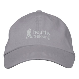 Boné Logotipo branco chapéu bordado Trekking saudável