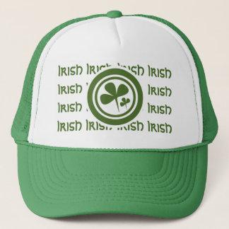 Boné Logotipo branco verde do irlandês 5 da equipe