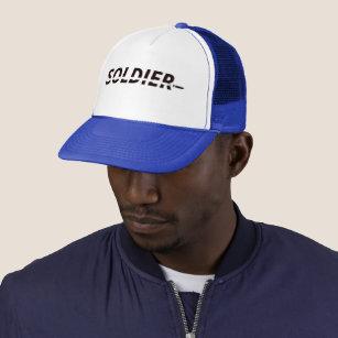 Boné Logotipo da bala do soldado - chapéu preto do 92f4414851e