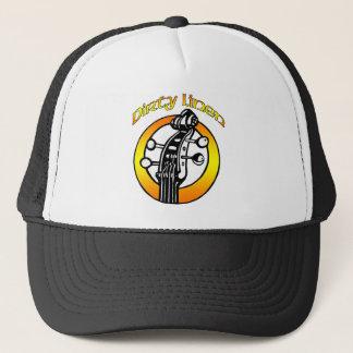 Boné Logotipo de linho sujo do chapéu alaranjado &