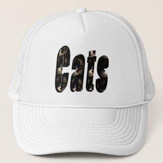 Boné Logotipo dimensional do gato feito dos gatos de