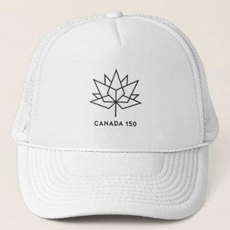 Boné Logotipo do oficial de Canadá 150 - esboço preto