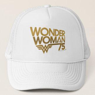 Boné Logotipo do ouro do aniversário da mulher