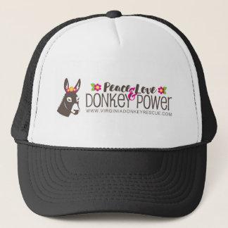 Boné Logotipo do poder do asno do amor da paz