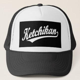 Boné Logotipo do roteiro de Ketchikan no branco
