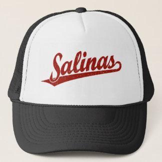 Boné Logotipo do roteiro dos Salinas no vermelho