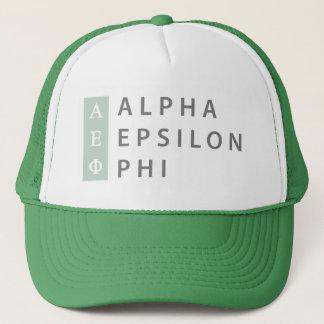 Boné Logotipo empilhado | alfa da phi do épsilon